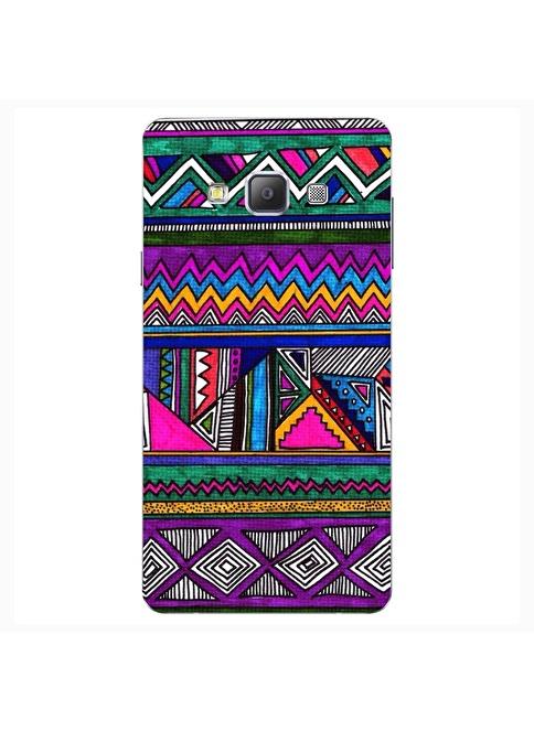 People's Cover Samsung A7 Kabartmalı Telefon Kılıfı Renkli